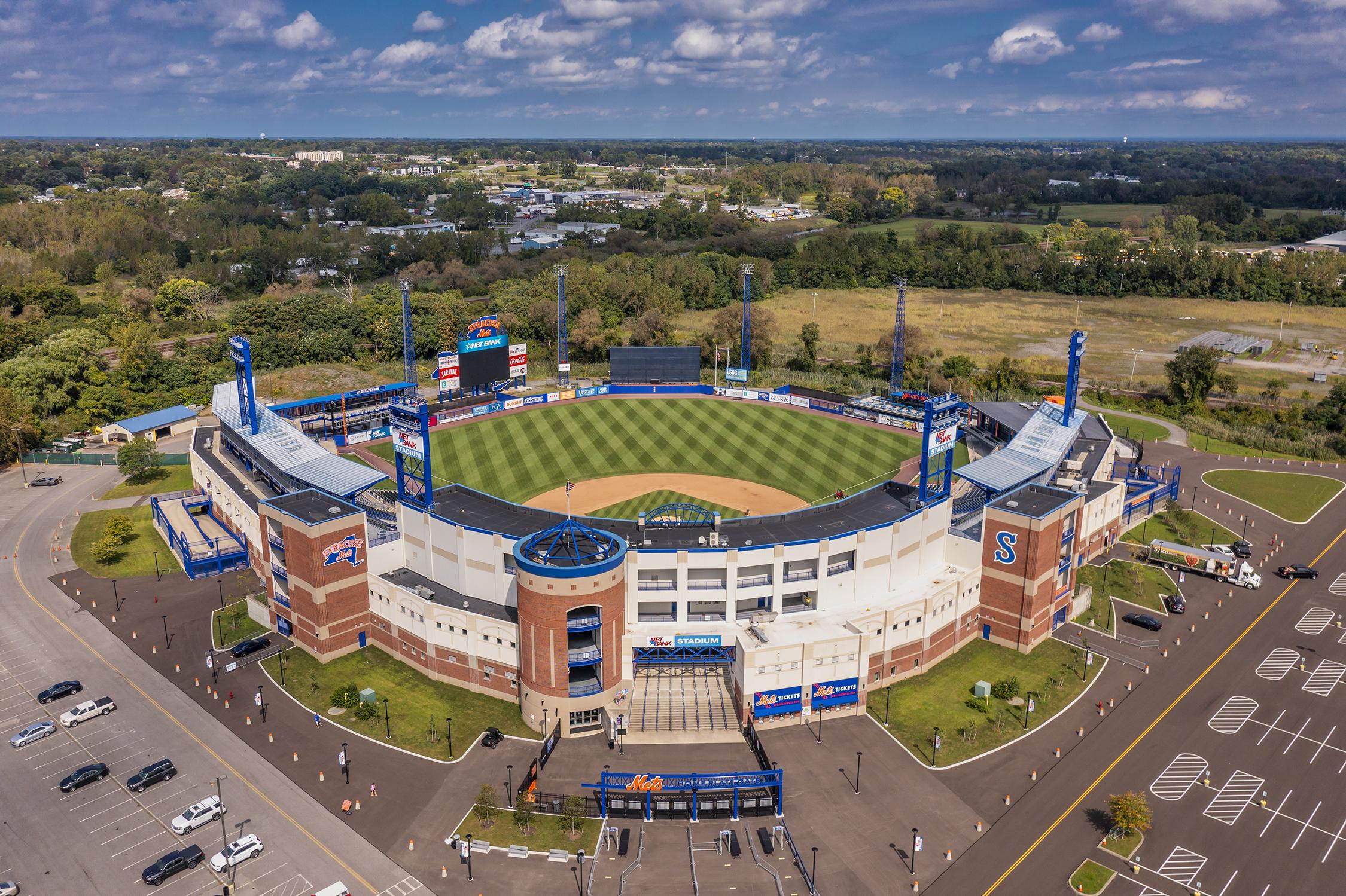 Aerial View of NBT Bank Stadium